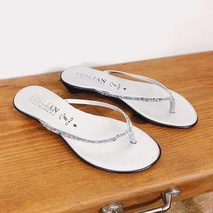 Italian Shoemakers Pearl Grey Sandals